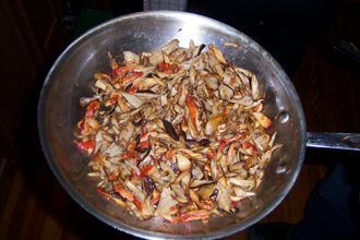 Cooked Wild Mushrooms