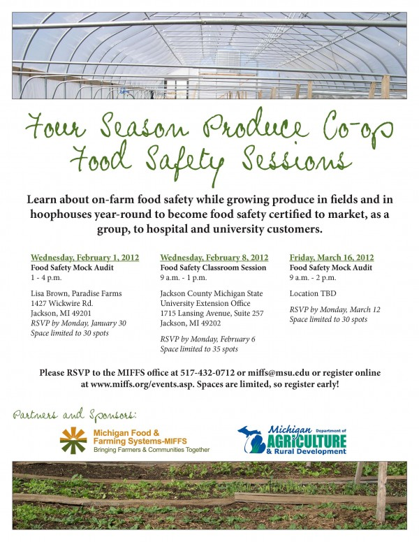 Food Safety Education Programs Michigan 2012