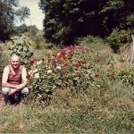 Phil Reid in his garden in the early '70's