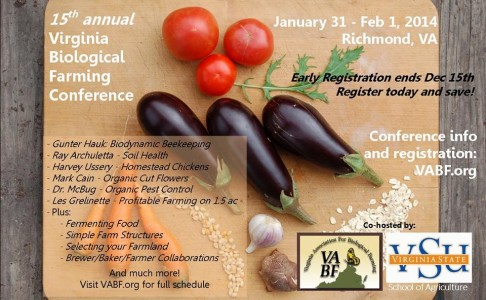 Virginia Biological Farming Conference, 15th Annual