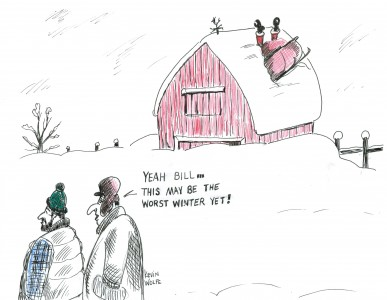Christmas Farm Cartoon