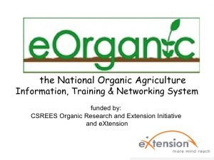 soil health and organic farming