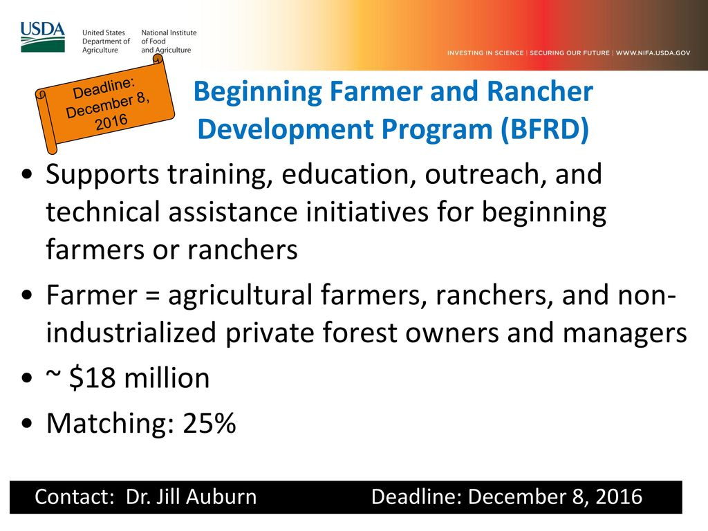 Beginning Farmer and Rancher Development Program