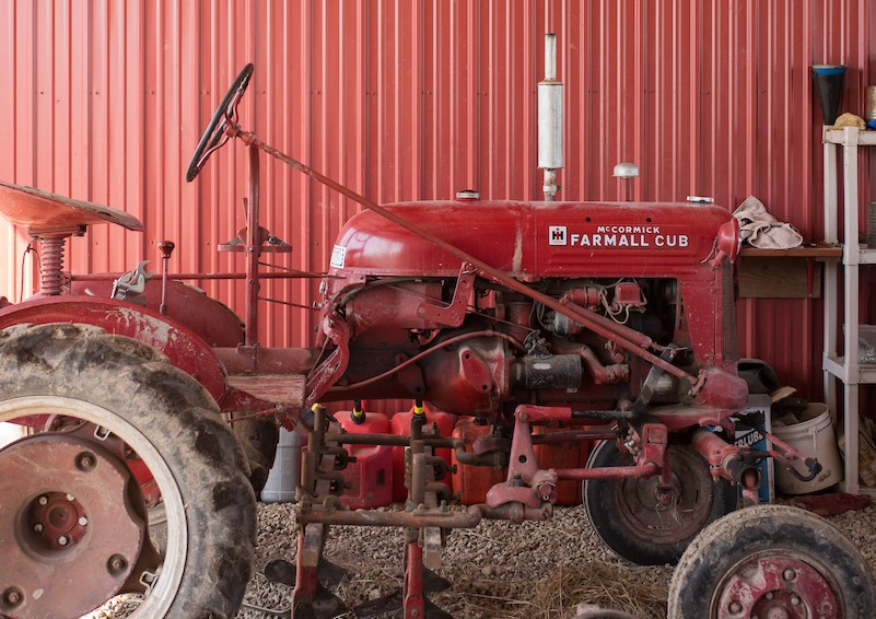 Small Red Tractor